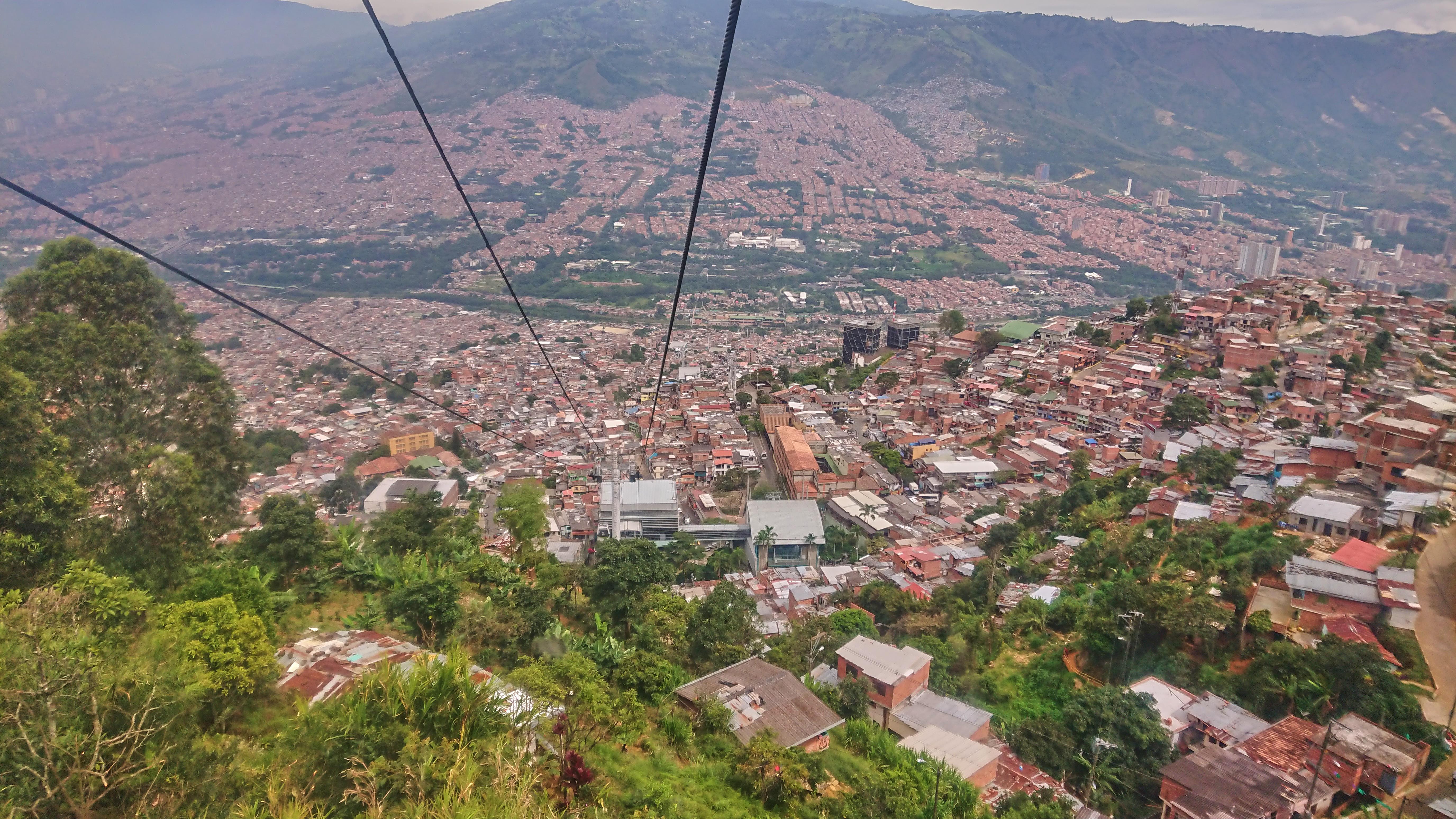 Über den Dächern von Medellin, Kolumbien 2019