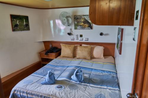 Unsere Kabine an Bord der Angelito, Galápagos, Ecuador 2019